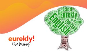 A green tree full of education-related words