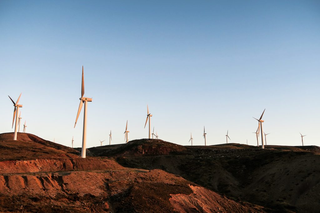 Windmills representing environmental engineering and geophysics