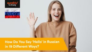 A woman learning to say hello in Russian