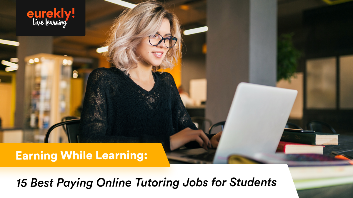 Girl looking for online tutoring jobs for college students