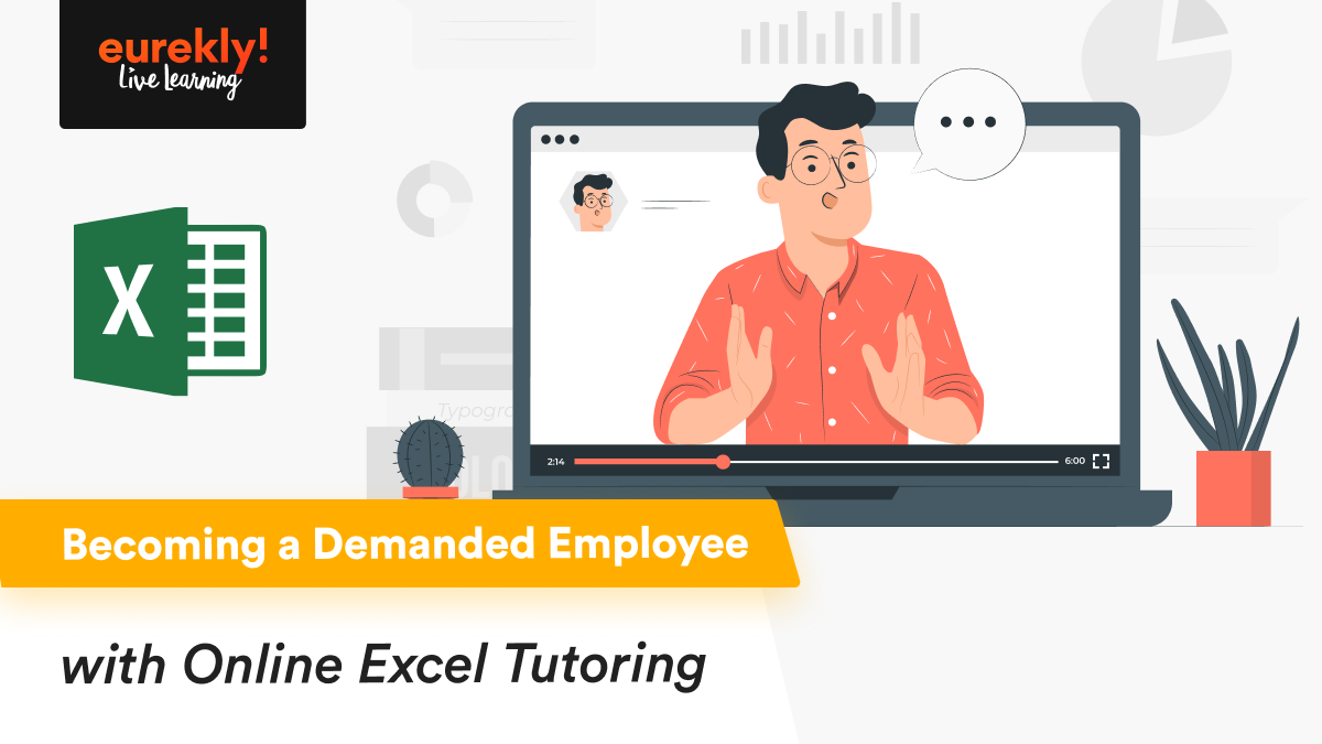 Online Excel tutor during his lesson